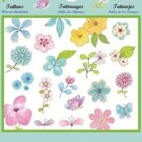 Zestaw Tatuaży  Kwiatki Djeco