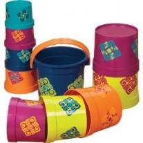 Zestaw Kubełków z Wiaderkem B.Toys