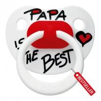 "Smoczek ""Papa is the best"" Bibi"