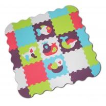 Mata Puzzle piankowe Zwierzęta Ludi