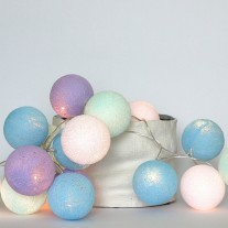 Lampki Baby Lavender 35 szt Cotton Ball Lights
