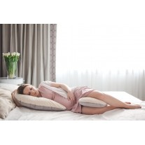 Poduszka dla kobiet w ciąży szaro biała Poofi