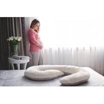 Poduszka dla kobiet w ciąży granatowo biała Poofi