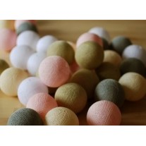 Lampki Pastels 35 szt Cotton Ball Lights