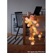 Lampki Pastels 35 szt Cotton Balls