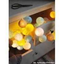 Lampki Sunny Turquoise 35 kul Cotton Balls