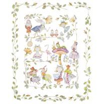 Kocyk  Maluszka 95x115 cm Alicja w Krainie Czarów,4 kolory polaru Minky, Blanket Story