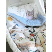 Kocyk Maluszka Kot w Butach 80 x100 - 4 kolory polaru Minky, Blanket Story