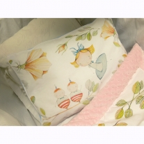 Pillow Alice in Wonderland, size 30 x 40 cm, 4 colours of Fleece Minky Blanket Story