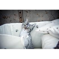 Ochraniacz do łóżeczka Kot w Butach, 30x180 cm, Blanket Story