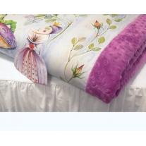 Kocyk Maluszka Alicja w Krainie Czarów - oryginalny rysunek, 4 kolory polaru Minky, Blanket Story