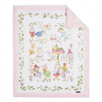 Blanket for newborns, baby pink, size 55 x 70 cm Blanket Story