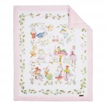 Kocyk Niemowlaka Alicja w Krainie Czarów, 4 kolory polaru Minky Blanket Story
