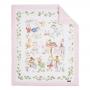 Blanket for newborns, baby pink, size 55 x 70 cm Blanket Story