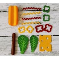 Drewniany zestaw do zabawy hot-dog