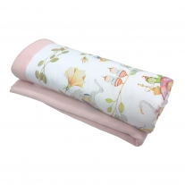 Blanket for baby Alice in Wonderland, pastel pink, Blanket Story