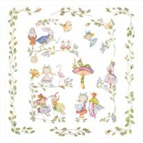 Kocyk letni - Otulacz Alicja w Karinie Czarów, 120x120 cm Blanket Story