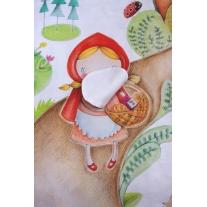 Kocyk Maluszka Czerwony Kapturek 95x115 cm